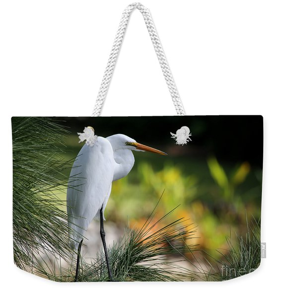 The Great White Egret Weekender Tote Bag