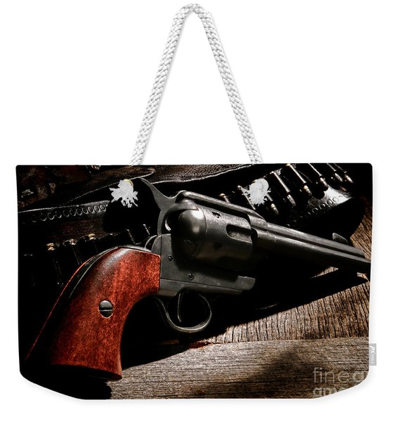 The Gun That Won The West Weekender Tote Bag