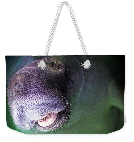 The Happy Manatee Weekender Tote Bag