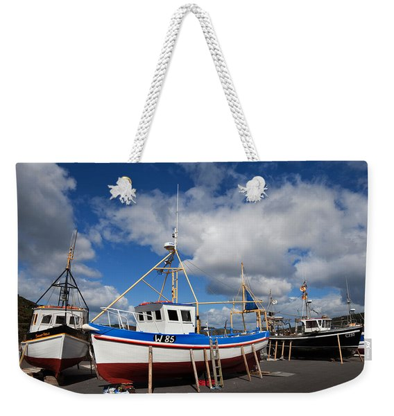 The Harbour And Fishing Boats, Passage Weekender Tote Bag