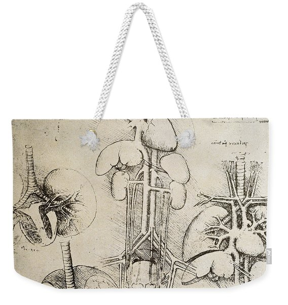 The Heart And The Circulation Weekender Tote Bag