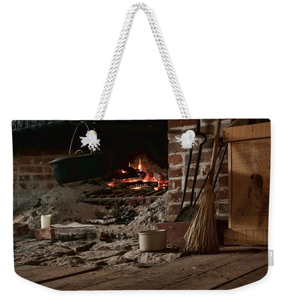 The Hearth - Fireplace Weekender Tote Bag