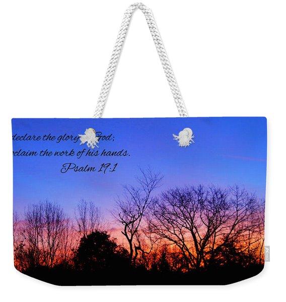 The Heavens Declare Weekender Tote Bag
