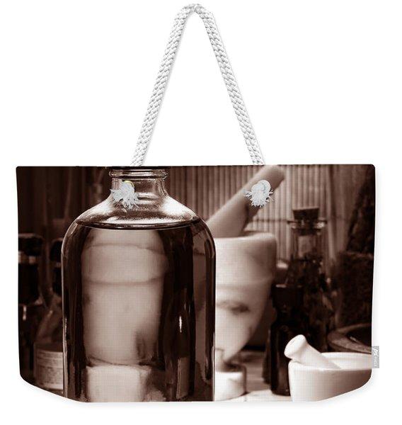 The Herbal Shop In Sepia Weekender Tote Bag