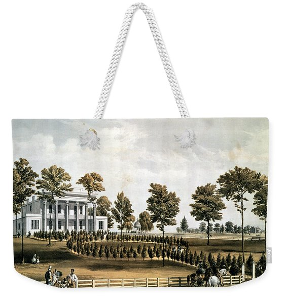 The Hermitage, Jacksons Tomb And Andrew J. Donelsons Residence, 12 Miles From Nashville Tennessee Weekender Tote Bag