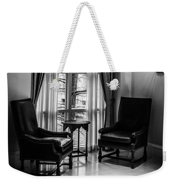 The Hotel Lobby Weekender Tote Bag