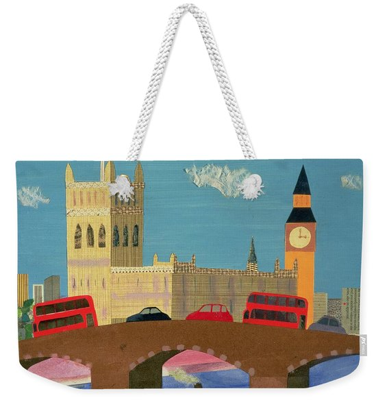 The Houses Of Parliament Collage Weekender Tote Bag