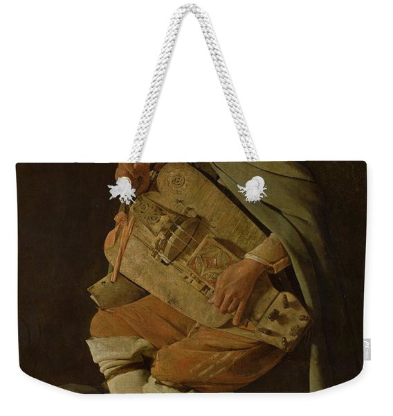 The Hurdy Gurdy Player Weekender Tote Bag