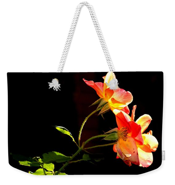 The Illuminated Rose Weekender Tote Bag