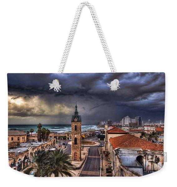 the Jaffa old clock tower Weekender Tote Bag