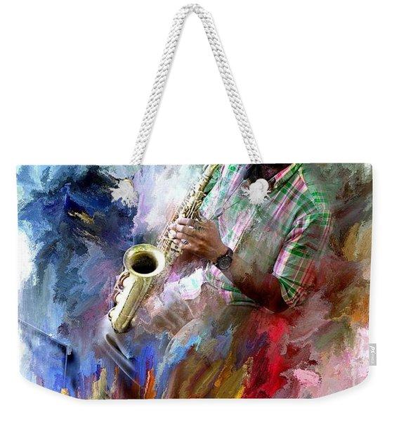 The Jazz Player Weekender Tote Bag