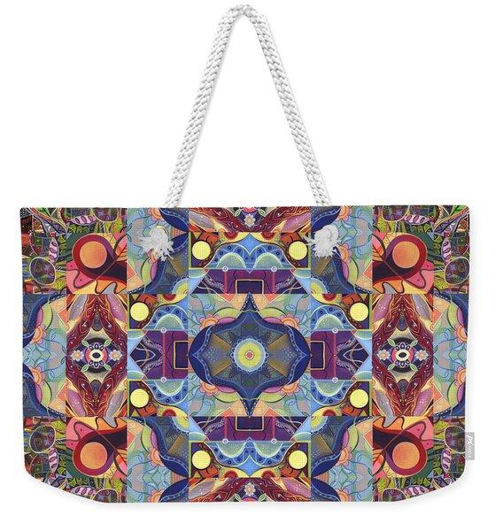 The Joy Of Design Mandala Series Puzzle 1 Arrangement 1 Weekender Tote Bag