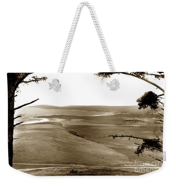 The Lagoon At The Mouth Of The Carmel River  From Fish Ranch California 1905 Weekender Tote Bag