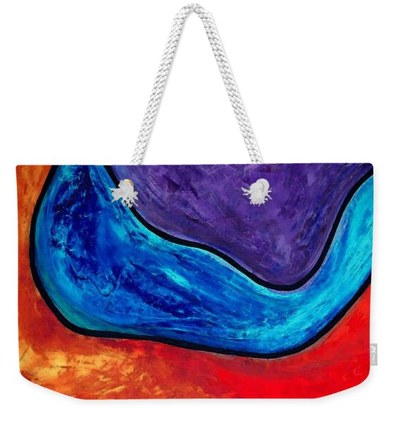 The Lake - Abstract Art By Sharon Cummings Weekender Tote Bag
