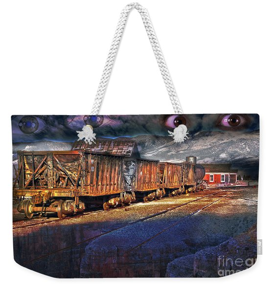 Weekender Tote Bag featuring the photograph The Last Shipment by Gunter Nezhoda