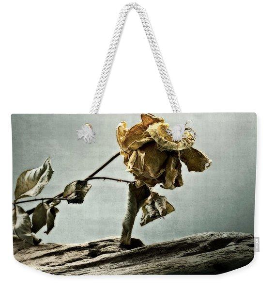 The Last Yellow Rose Of Summer Weekender Tote Bag