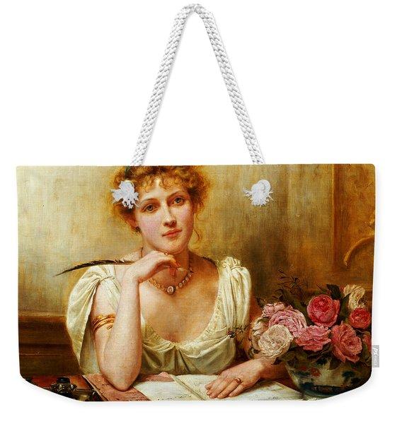 The Letter  Weekender Tote Bag