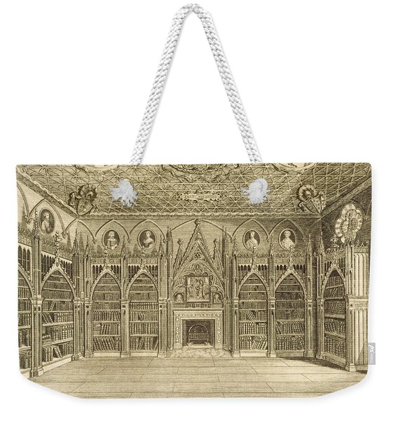 The Library, Engraved By Godfrey Weekender Tote Bag