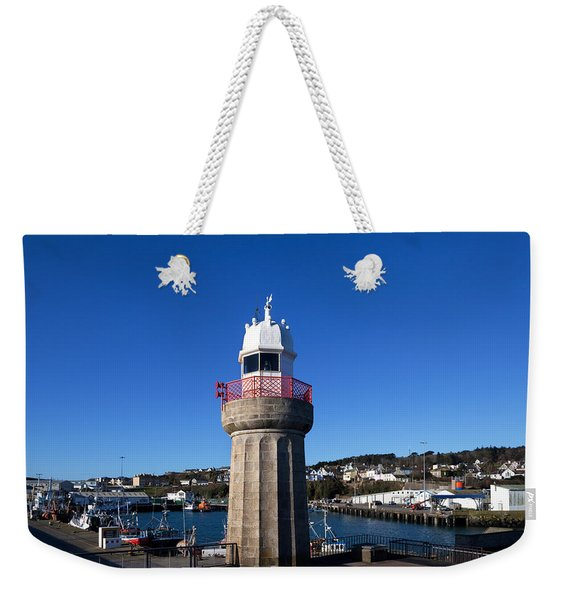 The Lighthouse And Fishing Harbour Weekender Tote Bag
