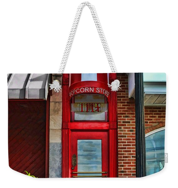 The Little Popcorn Shop In Wheaton Weekender Tote Bag
