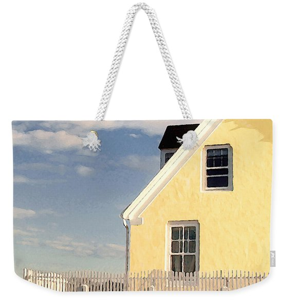 The Little Yellow House At The Seawall Weekender Tote Bag