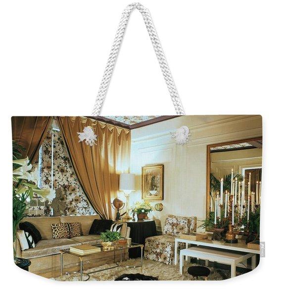 The Living Room Of Leoda De Mar's Home Weekender Tote Bag