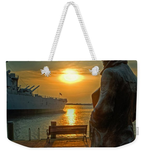 The Lone Sailor Weekender Tote Bag