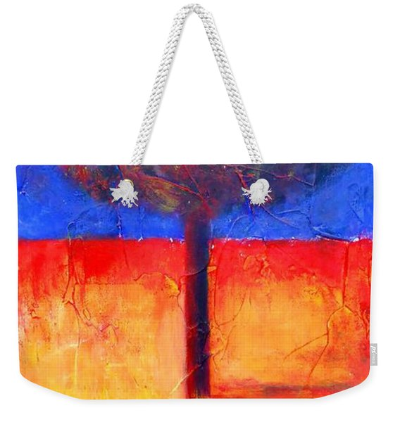 The Lonely Tree In Autumn Weekender Tote Bag