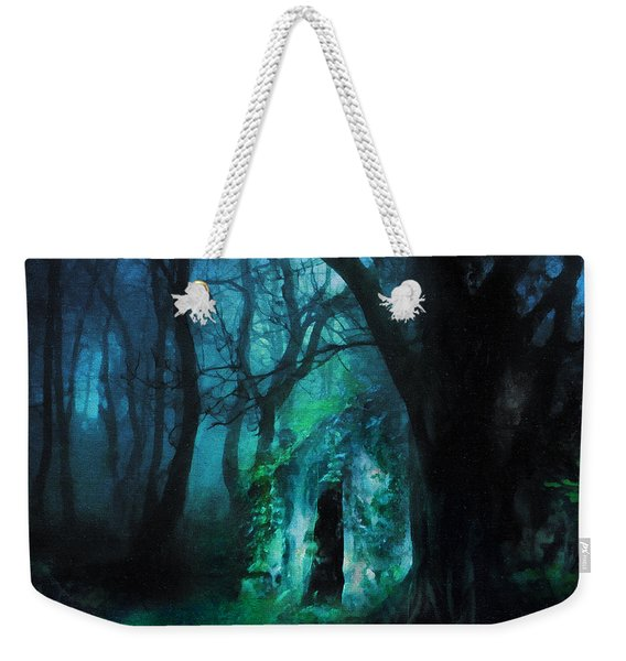 The Lovers Cottage By Night Weekender Tote Bag