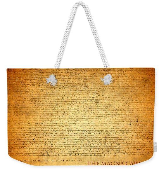The Magna Carta 1215 Weekender Tote Bag