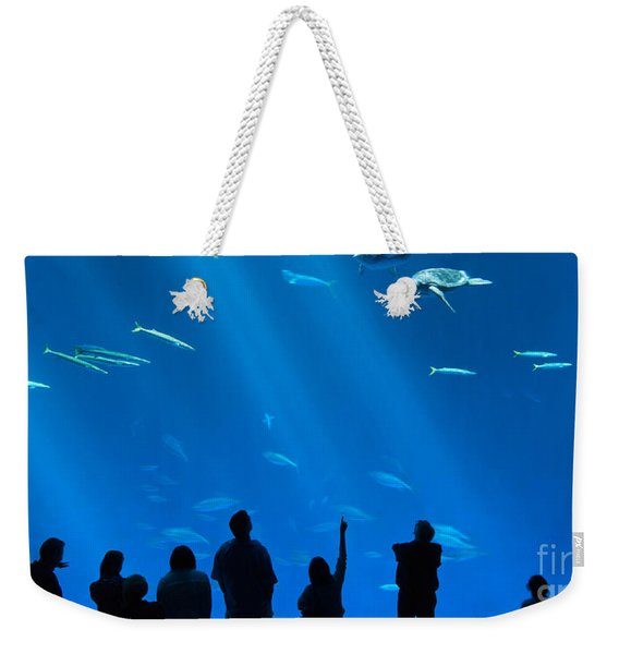 The Magnificent Open Sea Exhibit At The Monterey Bay Aquarium. Weekender Tote Bag