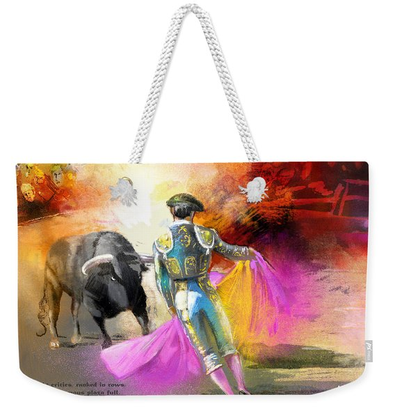 The Man Who Fights The Bull Weekender Tote Bag