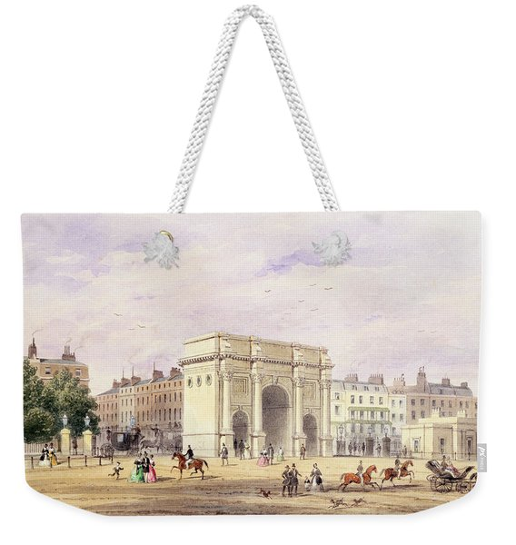 The Marble Arch Wc On Paper Weekender Tote Bag
