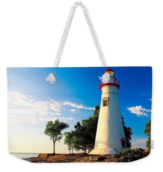 The Marblehead Light Weekender Tote Bag