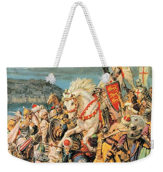 The Mighty King Of Chivalry Richard The Lionheart Weekender Tote Bag