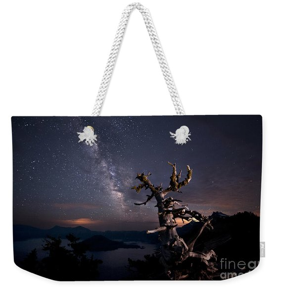 The Mind Belonged To Heaven The Body's Shadow Lies There Weekender Tote Bag