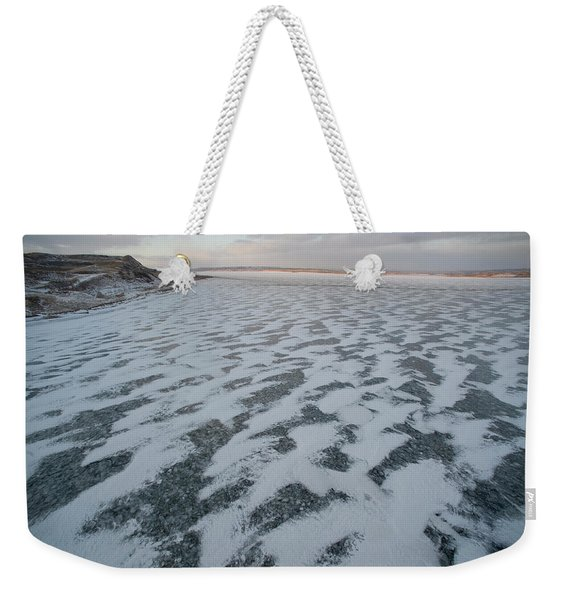 The Missouri River Near New Town, Nd Weekender Tote Bag
