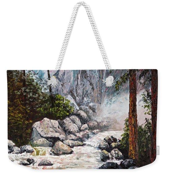 The Mist At Bridalveil Falls Weekender Tote Bag