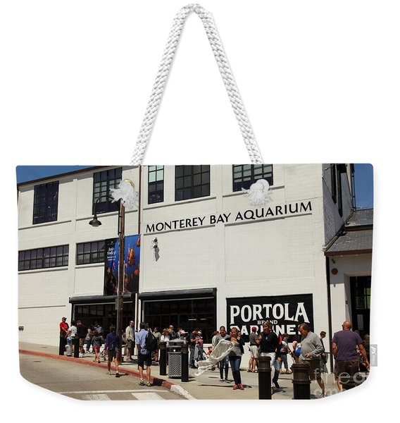 The Monterey Bay Aquarium On Monterey Cannery Row California 5d25015 Weekender Tote Bag