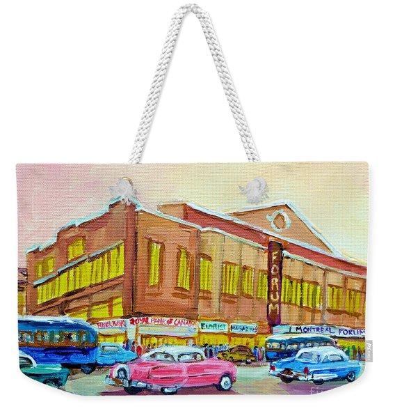 The Montreal Forum Weekender Tote Bag