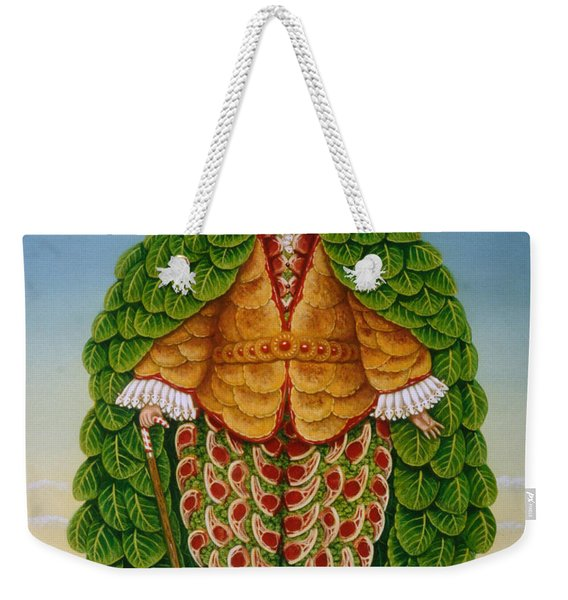 The New Vestments Ivor Cutler As Character In Edward Lear Poem, 1994 Oils And Tempera On Panel Weekender Tote Bag