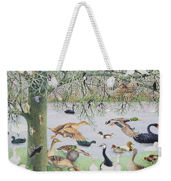 The Odd Duck Acrylic On Canvas Weekender Tote Bag