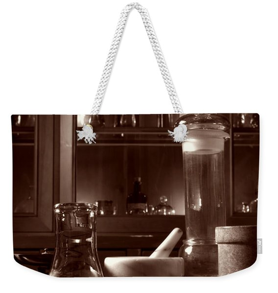 The Old Apothecary Shop Weekender Tote Bag