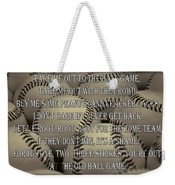 The Old Ballgame Weekender Tote Bag