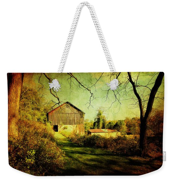 The Old Barn With Texture Weekender Tote Bag