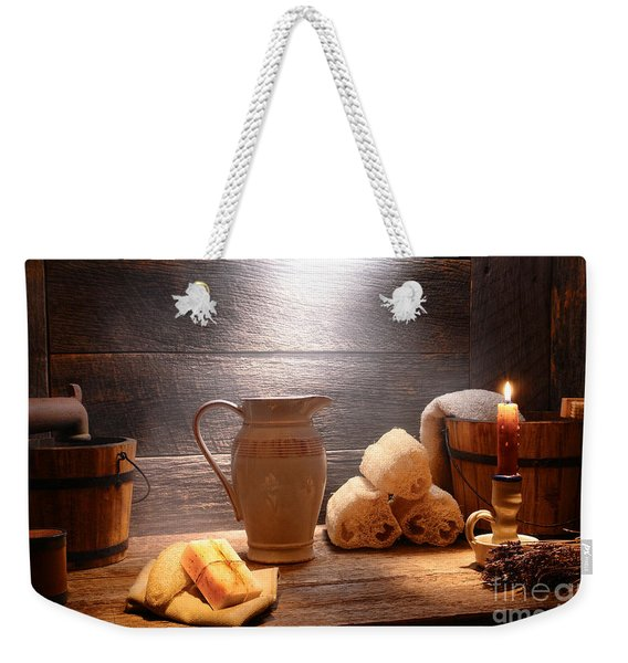 The Old Bathroom Weekender Tote Bag