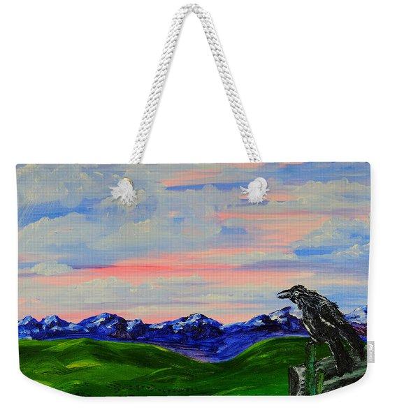 The Old Crow - Speaking Words Of Wisdom Weekender Tote Bag
