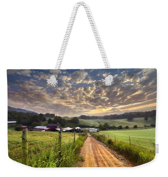 The Old Farm Lane Weekender Tote Bag