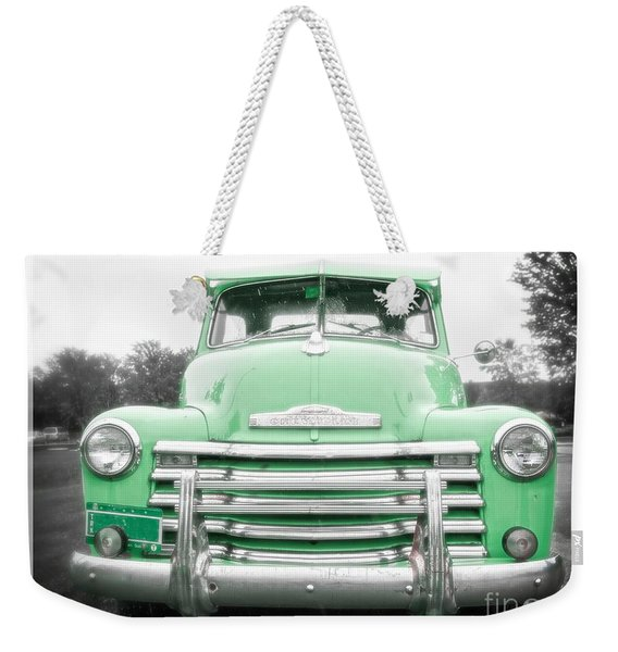 The Old Green Chevy Pickup Truck Weekender Tote Bag