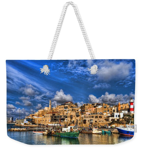 the old Jaffa port Weekender Tote Bag